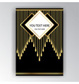 art deco template golden-black a4 page menu card vector image vector image