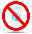 Ban wash machine vector image vector image