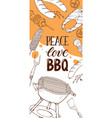 bbq party posters vector image vector image