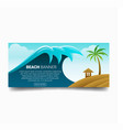 beach wave banner vector image