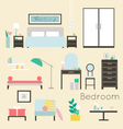 Bedroom Furniture and Accessories - Modern bedroom vector image vector image