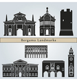 Bergamo landmarks and monuments vector image vector image