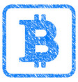 bitcoin symbol framed stamp vector image vector image