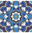 blue pattern of mandalas vector image