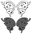 Butterfly wings Set of Black and painted wings vector image vector image
