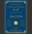 certificate or diploma retro vintage template 6 vector image vector image