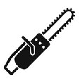 chainsaw icon simple style vector image