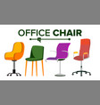chairs furniture set modern chair objects vector image vector image