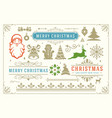 christmas decoration symbols ornate vector image vector image
