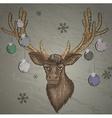 Christmas Reindeer Mount Sketch vector image