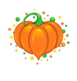 cute pumpkin heart vector image vector image