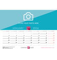 Desk Calendar 2016 Print Template January Week vector image