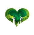 eco green happy family having fun playing vector image vector image