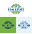 elegant real estate logo vector image vector image