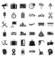 fast delivery icons set simple style vector image vector image