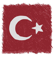 Flag of Turkey handmade square shape vector image