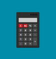 flat calculator icon isolated on color background vector image vector image