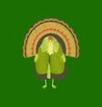 flat shading style icon turkey vector image vector image