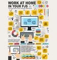 freelance work home and internet business vector image vector image