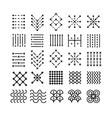 geometric icon ornament vector image