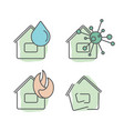 home insurance services set of vector image