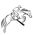 horse show jumping vector image vector image