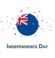 independence day of new zealand patriotic banner vector image