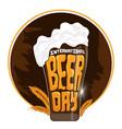international beer day vector image vector image