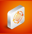 isometric outsourcing concept icon isolated on vector image