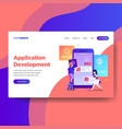 landing page template of application development vector image vector image