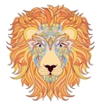 lion on white background vector image vector image