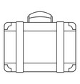 luggage bag icon outline style vector image