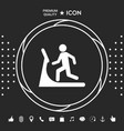 man on treadmill icon graphic elements for your vector image