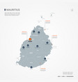 mauritius infographic map vector image vector image