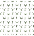military seamless pattern with soldiers and guns vector image