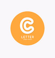 modern linear logo and sign letter c vector image