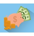 Money design Financial item icon Colorful vector image vector image