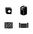 package simple related icons vector image