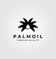 palm oil vintage minimalist logo symbol design vector image vector image