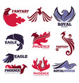 phoenix fire bird fantasy eagle template vector image vector image