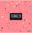 pink terrazzo pattern background design vector image