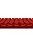 red cinema theatre seats vector image vector image