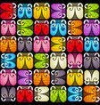seamless pattern with colorful bugs vector image