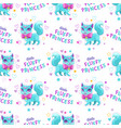 seamless pattern with little cute cartoon pretty vector image