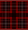 seamless red black tartan - white stripes vector image