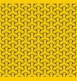 seamless web geometric pattern black and yellow vector image