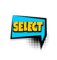 select comic text white background vector image vector image
