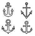 set anchor icons design element for logo label vector image vector image