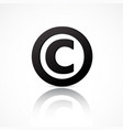 simple copyright symbol vector image vector image