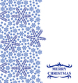 snowflakes vertical white vector image vector image